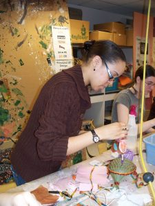 Students participate in art activity at school of the arts